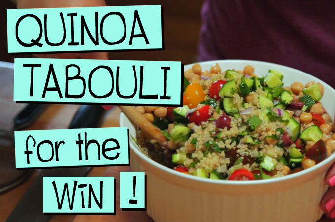 Quinoa Tabouli FOR THE WIN!
