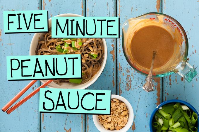 Five Minute Peanut Sauce